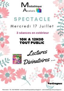 """Spectacle """"Lectures Divinatoires"""" @ Médiathèque"""