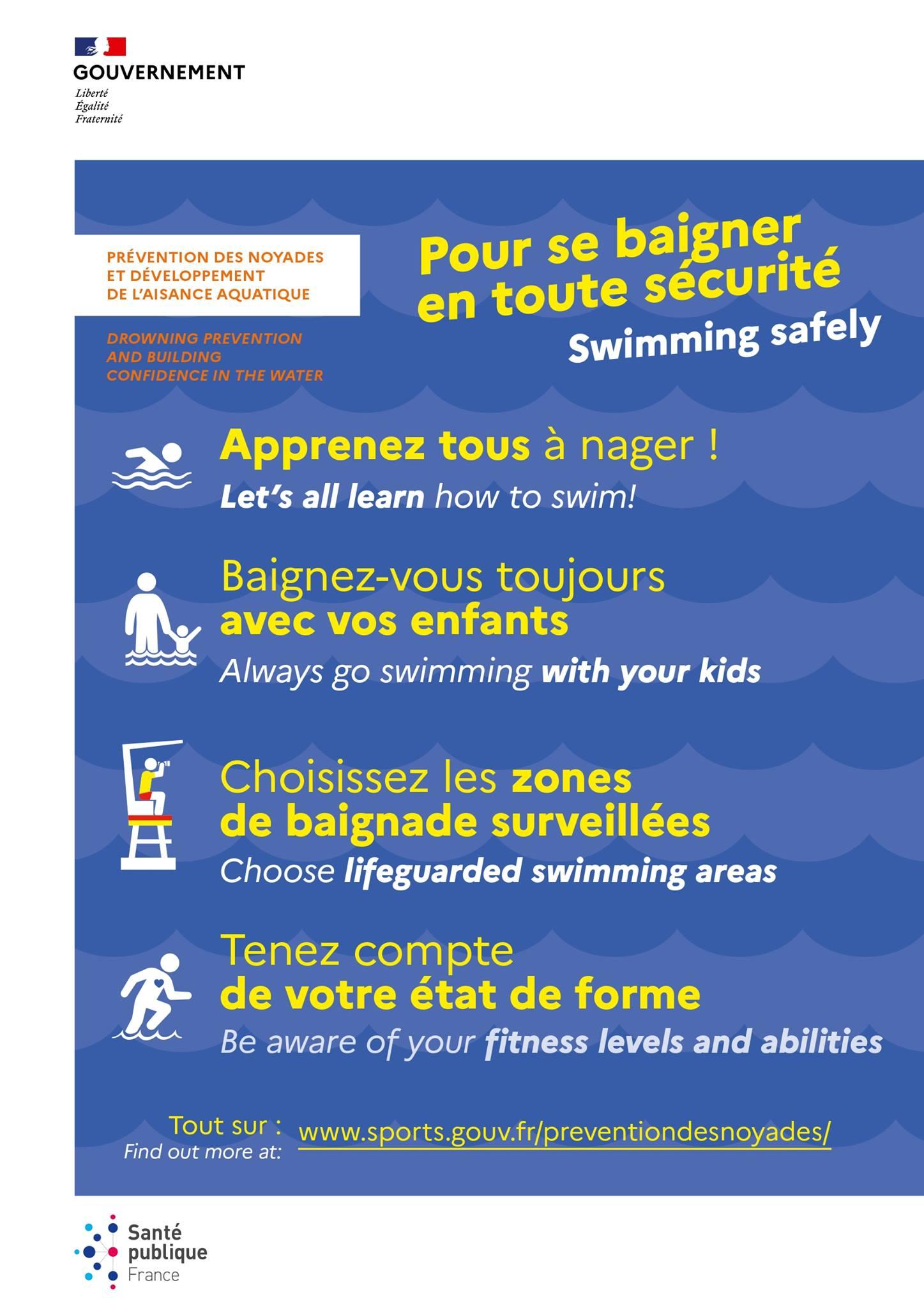 Pour se baigner en toute sécurité