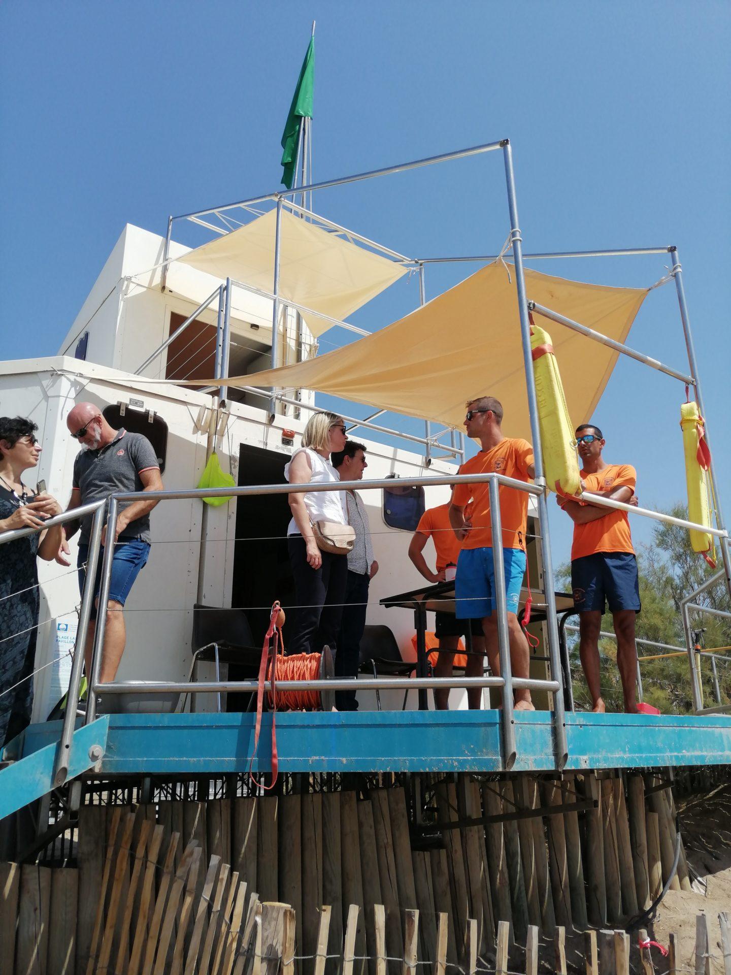 Visite des postes de secours de Portiragnes plage