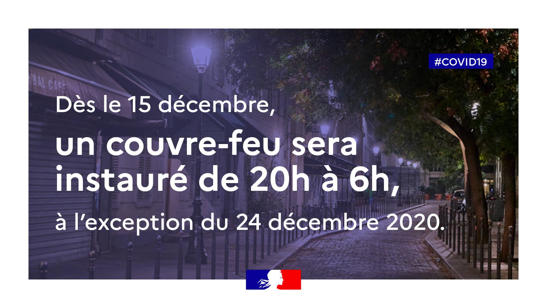 COUVRE-FEU à partir du 15 décembre 2020