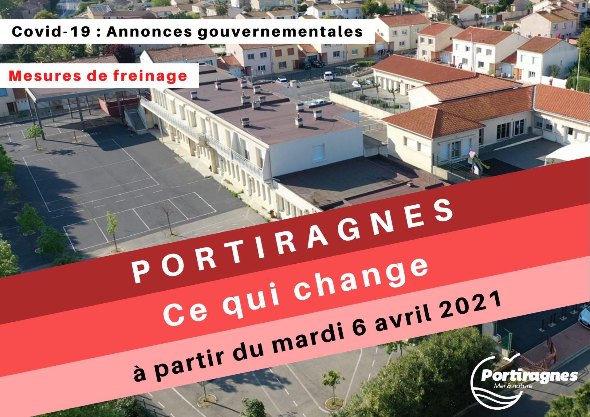 #COVID19 – Ce qui change à PORTIRAGNES à partir du mardi 6 avril 2021